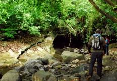 La entrada a la cueva